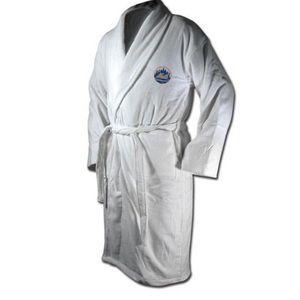 Men's terrycloth bathrobe New York Mets white